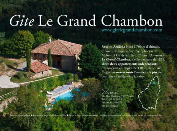 Le grand Chambon: appartement hiver (Saint-Symphorien-de-Mah